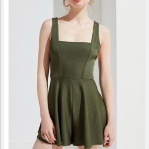 Urban outfitters olive green romper